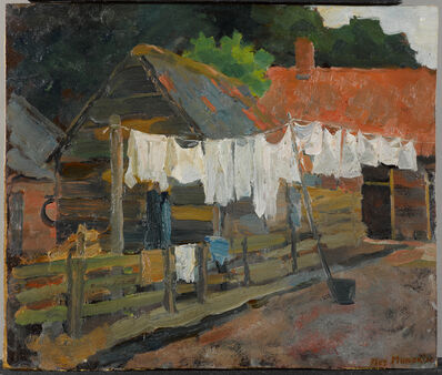 Piet Mondrian, 'Farmhouse with Wash on the Line', 1897