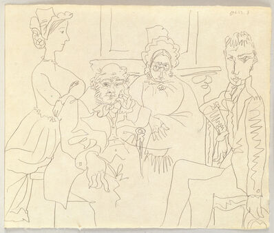 Pablo Picasso, 'Familie Balzacienne (Family, After Balzac)', 1962