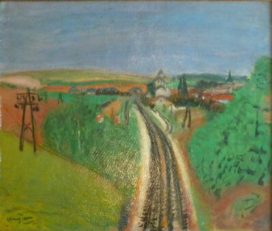 Henri Hayden, 'Landscape with Train-rail ',  1955