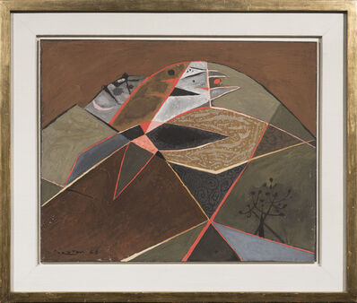 John Craxton, 'Autumn Landscape with Hills, Spetses II', 1946