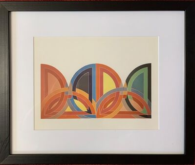 Frank Stella, 'A plate showing a study for a painting (Tahkt-I-Sulayman I), from the Portfolio by the Washington Museum of Modern Art', 1966