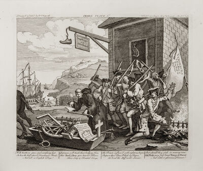 William Hogarth, ' The Invasion, two etchings', 1756-issued 1822