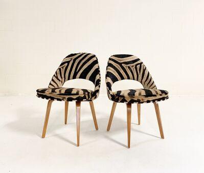 Eero Saarinen, 'Executive Chairs in Zebra Hide, pair', mid 20th century
