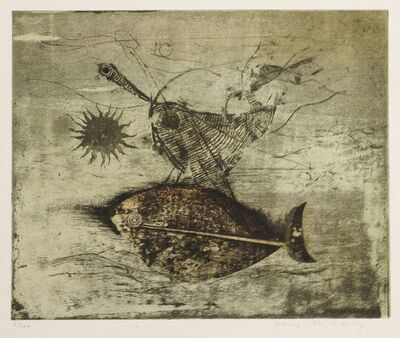 Johnny Friedlaender, 'Composition with fish'