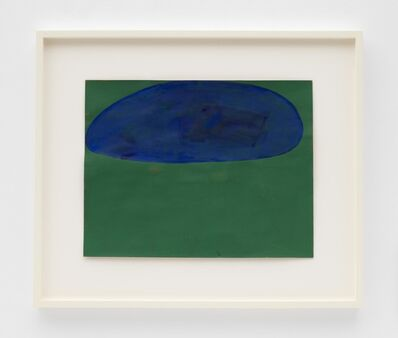 Suzan Frecon, 'resolute blue and green composition', 2018