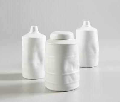 Edmund de Waal, 'Lidded jar and two vessels', 1996