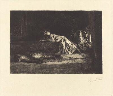 Jean Joseph Benjamin Constant, 'Oriental Interior with Sleeping Tiger', 1875/1885