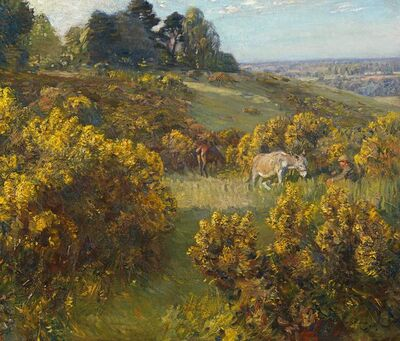 Alfred James Munnings, 'Summer afternoon at Costessey', 1910