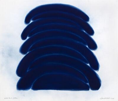 David Nash, 'Wide Stack of Blue', 2018