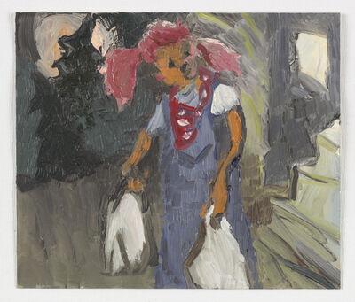 Jane Corrigan, 'Pumpkin head w/ groceries', 2016
