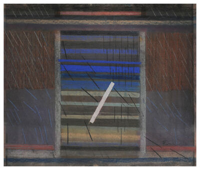 Constantin Flondor, 'Rain by the forest', 1967