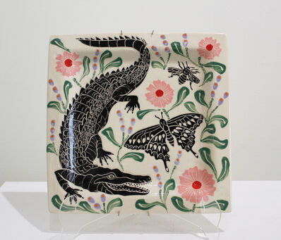 Abbey Kuhe, 'Alligator, Moth & Bee Plate', 2020