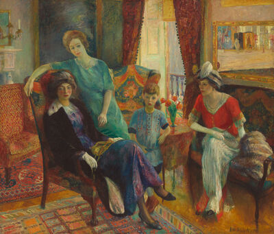 William James Glackens, 'Family Group', 1910/1911
