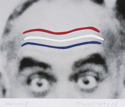 John Baldessari, 'Raised Eyebrows/Furrowed Foreheads (Red, White and Blue)', 2008