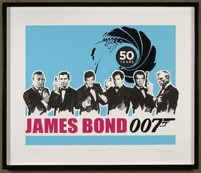 James Hart Dyke, 'Everything or Nothing – 50 Years of James Bond: Blue	', 2012