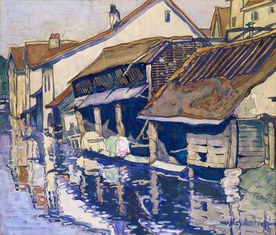 Hale Aspacio Woodruff, 'Les Bords de l-Eure, Chartres', ca. 1928
