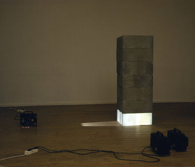 Ange Leccia, 'Arrangement, parpaings et projecteurs Super 8', 1984