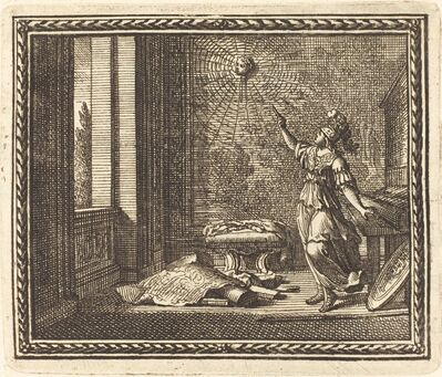 Jean Lepautre, 'Minerva Changing Arachne into a Spider', published 1676