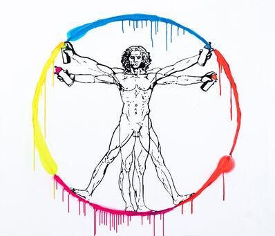 Utopia, 'Vandal Vitruvian Man - Utopia vs Leonardo da Vinci', 2021