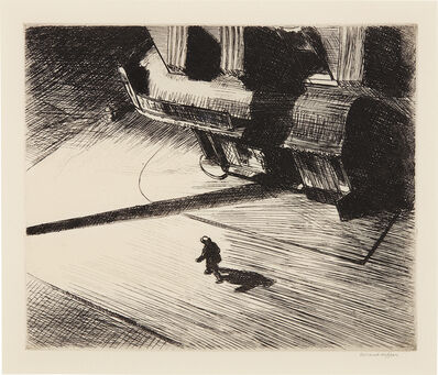 Edward Hopper, 'Night Shadows', 1921