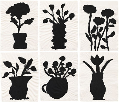 Donald Baechler, '6 Flowers', 2010