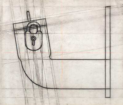 """Konrad Klapheck, 'Preparatory drawing for """"Le démon de midi""""', 1989"""