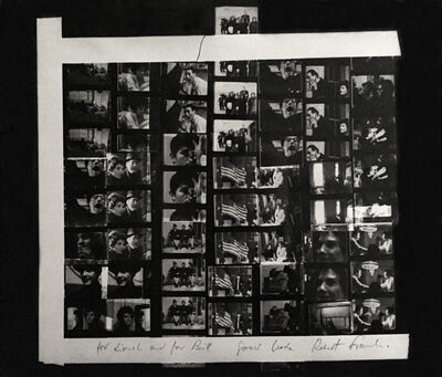 Robert Frank, 'Contact Sheet from Movie Stills', Print date: 1971