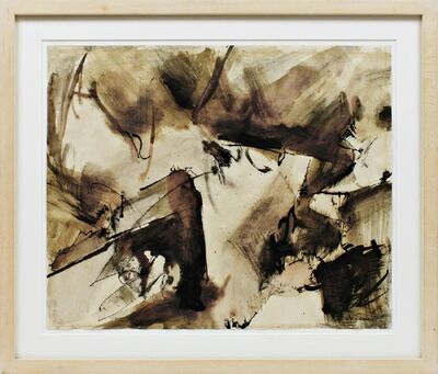 Mark di Suvero, 'Abstract Expressionist drawing with hand signed COA ', ca. 1950