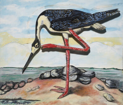 Larry Rivers, 'Black Necked Stilt', 1997