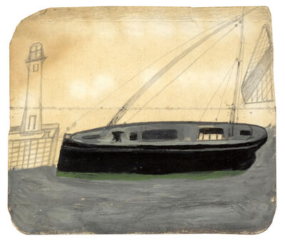 Alfred Wallis, 'Lighthouse and Fishing Boat', ca. 1936