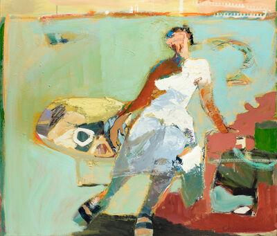 Linda Christensen, 'White Circle, Green Edge II'