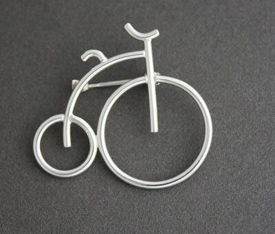 Kathy Marie Anderson, 'Sterling Silver Bicycle Pin', 2000-2019