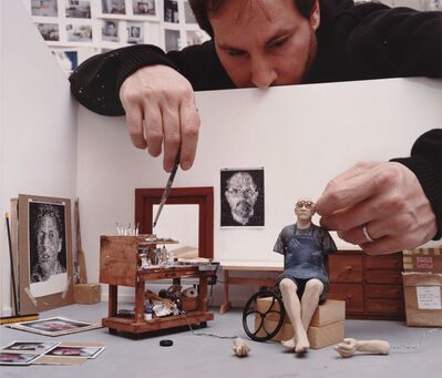 Sage Sohier, 'Sculptor with model of Chuck Close in his summer studio, Norwalk, CT', 2005