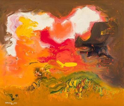 Ralph Rosenborg, 'Orange and White Sky', 1970