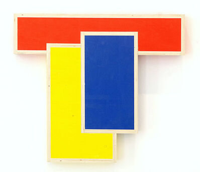 """G.T. Pellizzi, '""""Blue Rectangle Over Yellow Rectangle Over Red Rectangle""""', 2017"""