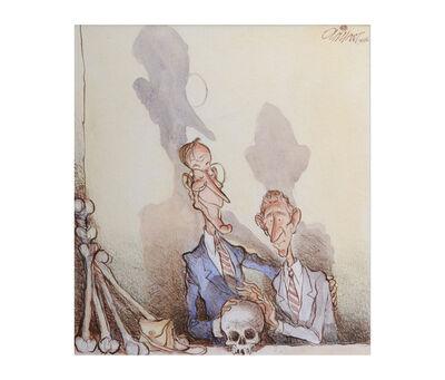 Pat Oliphant, 'George W-Skull & Bones', 2005