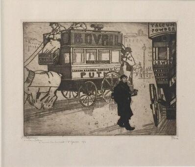 Jean-Emile Laboureur, 'Les Derniers Bus à Londres', 1913