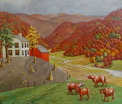 Molly Luce, 'Autumn Farm', 1930