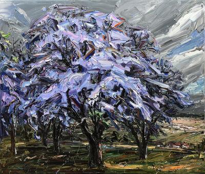 Jun Chen (b. 1960), 'Jacaranda Trees, Grey Sky', 2019