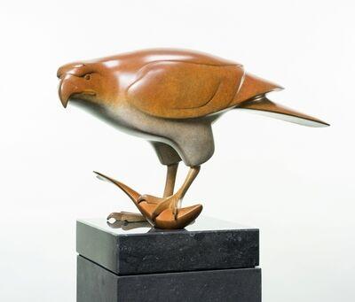 Evert den Hartog, 'Roofvogel met vis no III', 2015