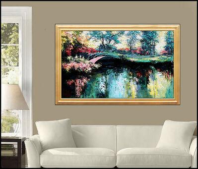 Mark King, 'Mark King Large Original Oil Painting On Canvas Floral Landscape Signed Artwork', 20th Century