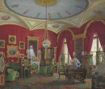 Edward Hau, 'The Study of Empress Alexandra Fyodorovna in the Winter Palace', 1858