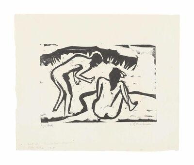 Ernst Ludwig Kirchner, 'Badendes Paar', 1909