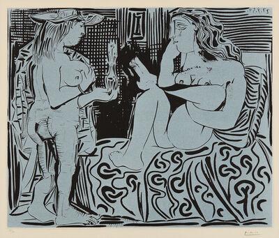 Pablo Picasso, 'Deux femmes avec un vase à fleurs (Two Women with a Vase of Flowers)', 1959