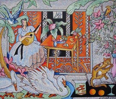 Louis Recchia, 'Interior with Matisse', 2015