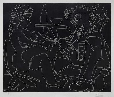 Pablo Picasso, 'Le Peintre et son modèle nu au chapeau', 1965