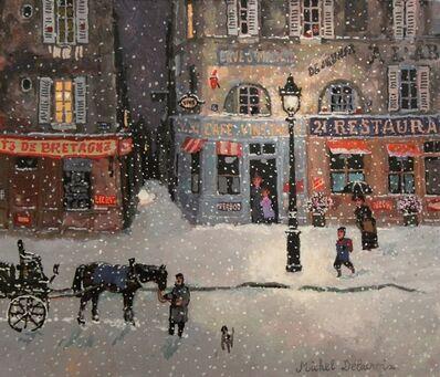 Michel Delacroix, 'Rue de Bretagne, soir de neige'