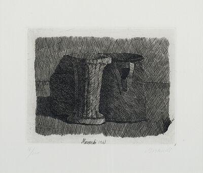 Giorgio Morandi, 'Piccola natura con tre oggetti', 1961
