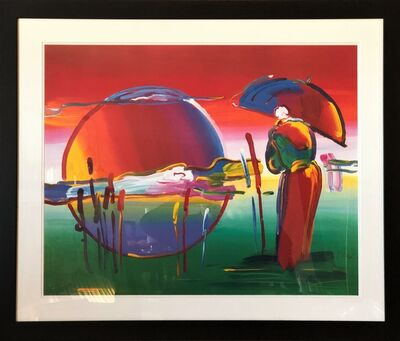 Peter Max, 'Rainbow Umbrella Man In Reeds - Limited Edition Lithograph by Peter Max', 2007