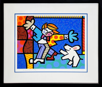 Romero Britto, 'BRENDAN AND THE WISHING DOG', 1996